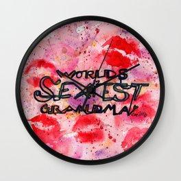 World's Sexiest Grandma Wall Clock