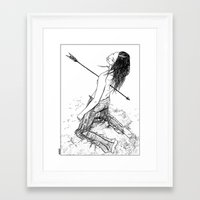 apollonia Framed Art Prints featuring asc 156 - La flèche noire by From Apollonia with Love