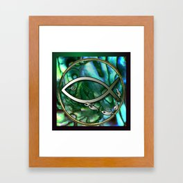 Paua Fishing Framed Art Print