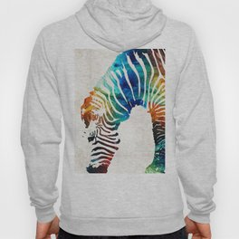 Colorful Zebra Art by Sharon Cummings Hoody