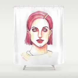 Short and Red Williams Shower Curtain