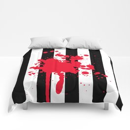 Black and White and Red All Over Comforters