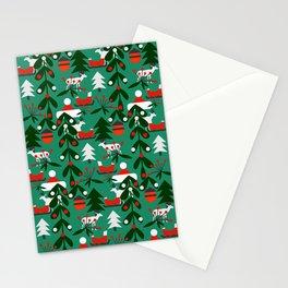 Christmas evergreens Stationery Cards
