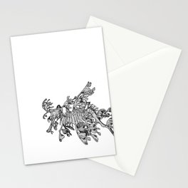 Leafy Sea Dragon Black and White Stationery Cards