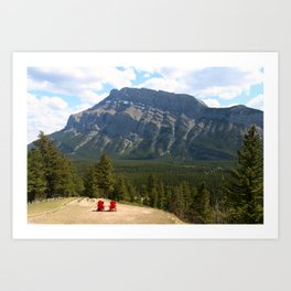 Enjoying The Beautiful View Art Print
