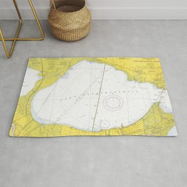 Vintage Map of Lake Pontchartrain (1971) Rug