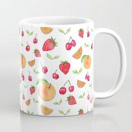 Oranges & Strawberries Pattern Coffee Mug