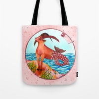 capricorn Tote Bags featuring Capricorn by Sandra Nascimento