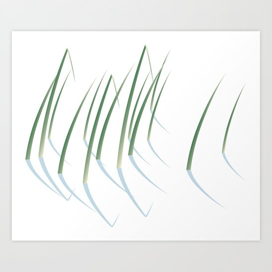 Reeds in Snow Art Print