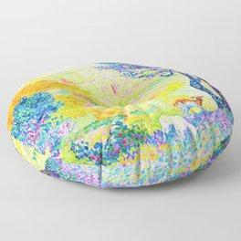 Henri Edmond Cross -The Full Of Bormes - Digital Remastered Edition Floor Pillow