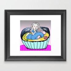 La Soupe à la grimace Framed Art Print