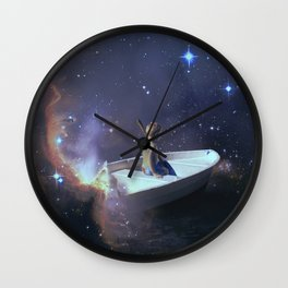 We Are Sailing - Universe, Space, Cosmos Wall Clock