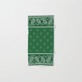 Classic Green Bandana Hand & Bath Towel