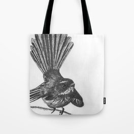 New Zealand fat fuzzy fantail Tote Bag