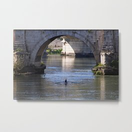 The River Under the Bridges Metal Print