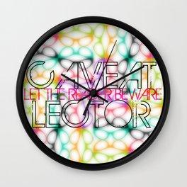 Caveat Lector Wall Clock