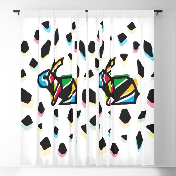 Rainbow Anigami Bunny Blackout Curtain