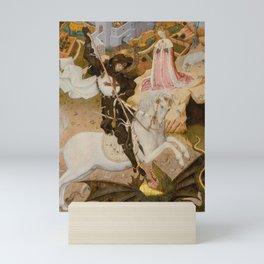 Saint George and the Dragon Medieval Painting Mini Art Print