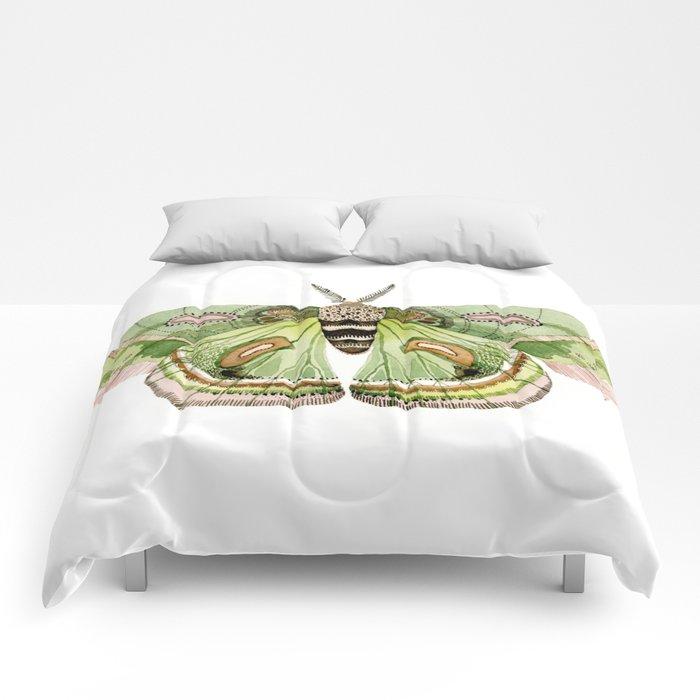 Green Cecropia Moth Comforters