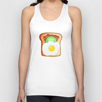 novelty Tank Tops featuring Good morning by Anna Alekseeva kostolom3000