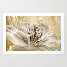 Gilded Lily Art Print