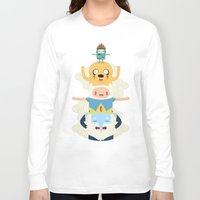adventure Long Sleeve T-shirts featuring Adventure Totem by Daniel Mackey