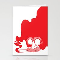 marx Stationery Cards featuring Groucho Marx by Stephanie Keir