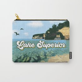 Lake Superior Retro Carry-All Pouch