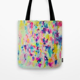 Bright, Neon, Colorful Abstract Painting  Tote Bag