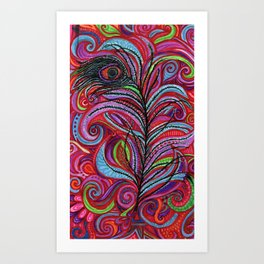 A Bright Feather Art Print