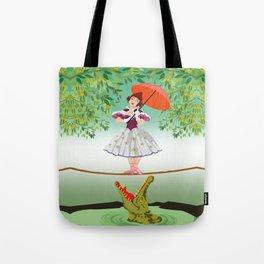The Umbella girl With crocodile Tote Bag