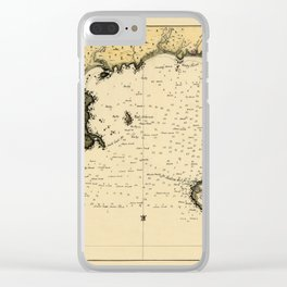 Map Of Montevideo 1789 Clear iPhone Case