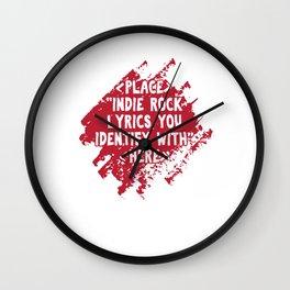 Punk Music Lovers Pop Jazz Musicians Gift Place Indie Rock Lyrics Wall Clock