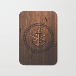 Wooden Anchor Bath Mat