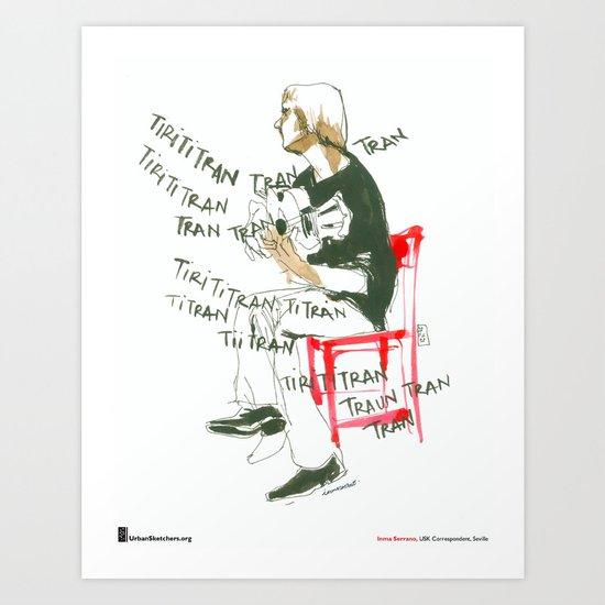 "Inma Serrano, ""Guitarra"" Art Print"