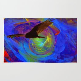 Vulture Escaping From Hell Rug
