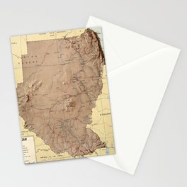 Map Of Sudan 1963 Stationery Cards