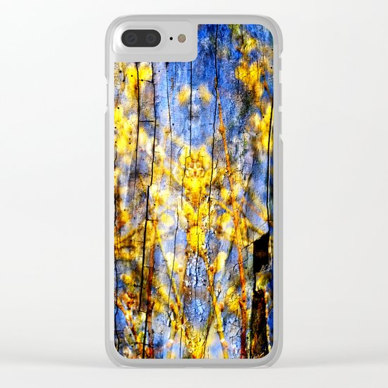 BLUE SYMPHONY of SPRING Clear iPhone Case