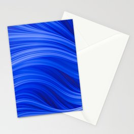 Flow Strand. Endless Blue. Abstract Art Stationery Cards