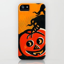 Vintage Jack o' lantern iPhone Case