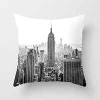 city Throw Pillows featuring New York City by Studio Laura Campanella