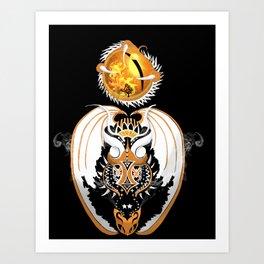 Cosmic Smoking Copperhead Dragon Art Print