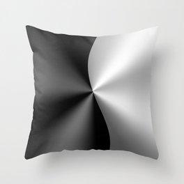 Black & Silver Metallic Geometric Design Throw Pillow