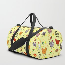 Cute seamless chickens pattern cartoon Duffle Bag