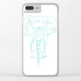 Lonely Elephant Clear iPhone Case