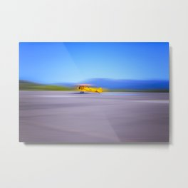 Just a Blur a classic two seater airplane Metal Print