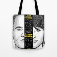 himym Tote Bags featuring Barney Stinson Playbook (Silver Linings Playbook + HIMYM) by HuckBlade