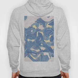 Abstract Pastel Watercolor Lily Still-Life Painting Original Hoody