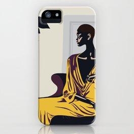 Yellow robe iPhone Case
