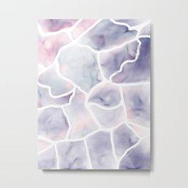 Watercolor stone texture Metal Print